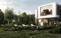 Proyecto mixto de casa familiar y oficina!!! Modelado y Renderizado íntegramente en Blender!!!