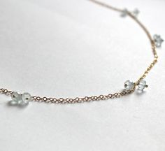 Aquamarine Necklace By Miriamariano On Etsy, $55.00