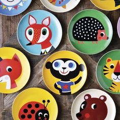 8 inch Ceramic Cartoon Fruit Plate #Ceramic, #Fruit, #Plate