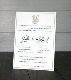 Elegant Rustic Letterpress Invitation by drippyink on Etsy, $8.50