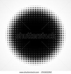 Abstract Halftone Black and White Isolated Modern Design Element