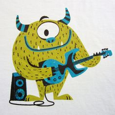 samba for rats: monster guitar t-shirt