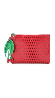 alice + olivia Strawberry Clutch. Love the whimsy that comes out in her clothes. It fits me perfectly