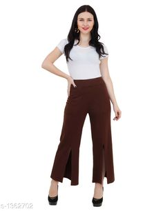 Trousers & Pants Stylish Cotton Spandex Pant Fabric: Cotton spandex Waist Size: S - 30 in To 32 in, M - 34 in To 36 in, L - 38 in To 40 in Length: Up To 38 in Type: Stitched Description: It Has 1 Piece Of Women's Pant  Pattern: Solid Sizes Available: S, M, L   Catalog Rating: ★3.9 (319)  Catalog Name: Ladies Elegant Cotton Spandex Pants Vol 2 CatalogID_175629 C79-SC1034 Code: 024-1362702-