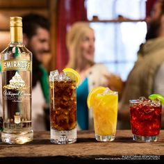 Three easy drinks you can make with Smirnoff Whipped Cream that are way easier than making actual whipped cream. Unless you have the Whippity Doo Dah Automatic Cream Whipper which may or may not be a real thing. Try Smirnoff Whipped Cream with Cola, Orange Juice or Cranberry Juice.