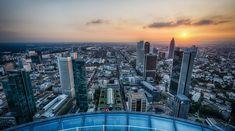 Sonnenuntergang über Frankfurt am Main