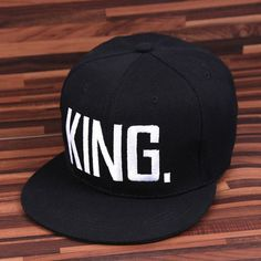 Fashion KING QUEEN Hip Hop Baseball Caps Embroider Letter Couples Lovers Adjustable Snapback Sun Hats for Men Women