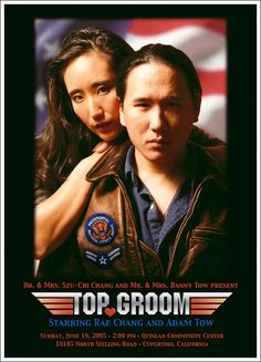 Movie themed wedding invitations--Top Groom--BAHAHA!!!  Couldn't decide which board to pin this on!!