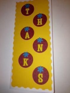 Simple thank you card. Letters from my Quickutz 2x2 punch dies.