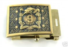 US Army 9th Infantry Regiment Belt Buckle.  You had to complete a 25 mile foot march to earn this.  I spent 5 years with 3/9 Infantry and did about twenty 25 milers.