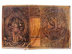 Gorgeous Coptic-bound wraparound Celtic Tree of Life journal by Courtney Davis