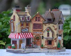"LEMAX Caddington Lighted Building ""ESTELLA'S CAFE & HOTEL CLAIR"" 65374   eBay"
