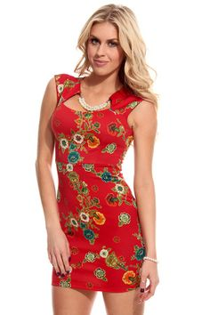 BRICK FLORAL FAUX PEARL SHORT SLEEVES DRESS,$23.99 #worldoffashion #wanderable #fashionstyle #dress #dresses #springdresses #partydress #lacedresses #halterdresses #minidresses #spring #springcollection #cute #fun #2014 #springtime #springfling #springfun #2014spring #springbreak #springfun #funinthesun #dressing #partydressing