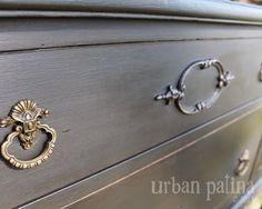 Charming Charcoal Grey Buffet {Annie Sloan Chalk Paint Graphite}
