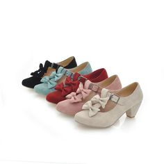 Beautiful bow shoes, I want them in all colors! they're so cheap too. #taobao #bows #shoes $7.10