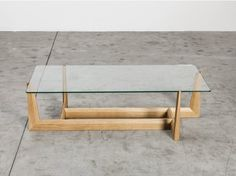gaudo wood and Glass Coffee Table