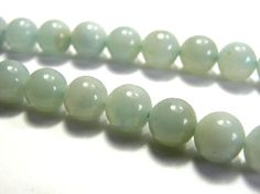 Round Amazonite Real Gemstone 8mm by KolibriBeadSupplies on Etsy