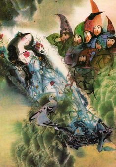 European Fairy Tales illustrated by Mirko Hanák (1971) (Snow white)