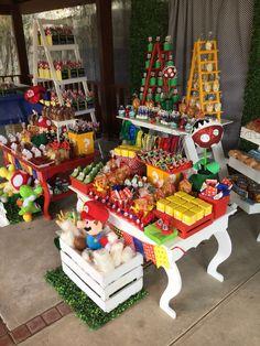 Mario bros party ideas #candybar #lovely ideas