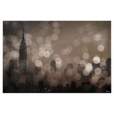 Wall art showcasing a New York cityscape.  Product: Wall artConstruction Material: CanvasFeatures:   Reproduction of original art by Parvez TajSolvent free inkArtist bio on the backReady to hangSigned by artistEco-friendly
