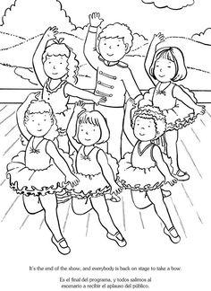 I Love Ballet/Me encanta el Ballet: Bilingual Coloring Book Dover Publications