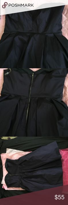 Short Dark purple ambiance dress Brand new, still with the tag, short dress from ambiance in San Francisco. Tight on the top, and poofy on the bottom. Ambiance Apparel Dresses Strapless