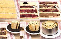 Rezept Wickeltorte, Oreo cake, Oreos, Recipe with Oreos, Filling, chocolate cake, Tutorial Wickeltorte, Bilderanleitung Wickeltorte, Anleitung Wickeltorte
