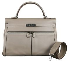 86fc2c9b77bd Authentic Hermes Argile Swift Kelly Lakis 2012 in Taupe Beige w  Palladium  Join the elite group of Hermes…