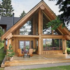 Most current Screen Log Homes entryway Style Seeing that we start to analyze log homes , them easily results in being obvious that there's a great deal mor. Cabin House Plans, Log Cabin Homes, Log Cabins, Cabins In The Woods, House In The Woods, Style At Home, Building A Wooden House, Small Wooden House, Wooden Houses
