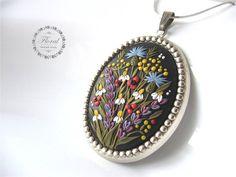 Romantic Wife Gift Romantic Pendant Necklace by VintageFloralJewel