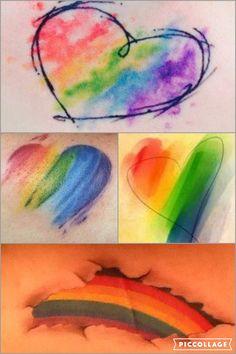Pride - Rainbow watercolor tattoo ideas