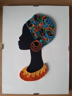 African woman - quilled by: Quilling Shapes-Arts Quilling