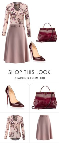 trab by eteralucia on Polyvore featuring interior, interiors, interior design, casa, home decor, interior decorating, LE3NO, Chicwish, Christian Louboutin and Aspinal of London