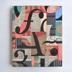 Typography collage modern and vintage original art by elizabeth rosen journ Disney Drawings, Art Drawings, Interactive Exhibition, Painted Vanity, Art Studio Organization, Alphabet, Typography, Lettering, Work Inspiration