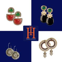 Take your pick from a wide variety of stunning earrings on Shop and Keep Shopping, Indian Wear, Mumbai, Hanger, Earrings, Ear Rings, Indian Fashion, Hangers, Stud Earrings