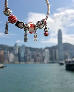 A bracelet with charms to remember impressive Hong Kong by! Share your favorite travel moments on Instagram for the chance to win a travel inspired bracelet. Click the image for more information. :) #PANDORAtravelcontest