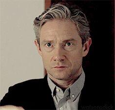 "watsonsdick: ""Martin Freeman fixing his hair Sherlock // StartUp """