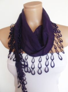 2012 summer fashion cotton scarf new design purple by smilingpoet, $12.90