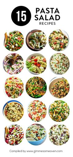 A delicious collection of 15 pasta salad recipes from food bloggers | gimmesomeoven.com