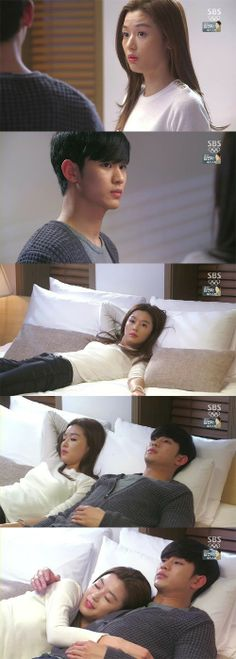She looks very inviting but do min joon...  too shy for alien...