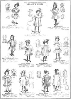 1909 Spring Summer McCalls -- not necissarily worn only by girls Sewing Baby Clothes, Girl Doll Clothes, Doll Clothes Patterns, Sewing Patterns, Belle Epoque, Toddler Outfits, Kids Outfits, Victorian Fashion, Vintage Fashion