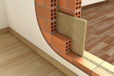 Parede com isolamento acustico (madeira maciça dentre os tijolos)