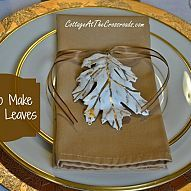 After seeing a plaster leaf garland, I decided to make some of my own… :: Hometalk