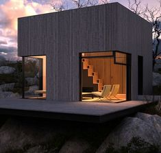 Modern tiny house design http://www.architizer.com/en_us/projects/view/mountain-shelter/13056/