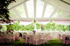 clear gabled arch in tent