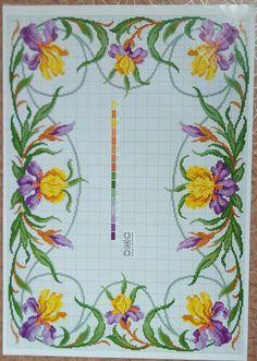 Nadide Umut Ozkan Cross Stitch Borders, Cross Stitch Flowers, Cross Stitch Charts, Cross Stitch Designs, Cross Stitching, Cross Stitch Embroidery, Cross Stitch Patterns, Crochet Patterns, Filet Crochet Charts