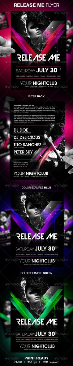 Release Me Party Flyer - Clubs & Parties Events