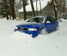 Clearing the Driveway with a B5 Audi S4  That's right!!!!