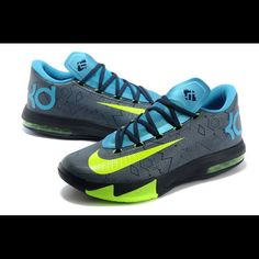 Nike Kd Vi Volt And Bright Blue