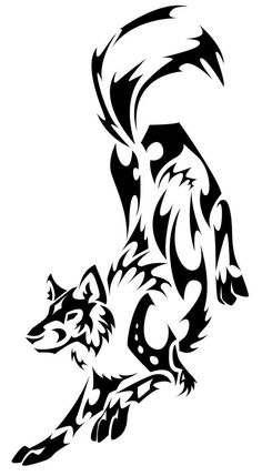 Tribal Wolf Tattoo Design by ThePioden (Full Body)